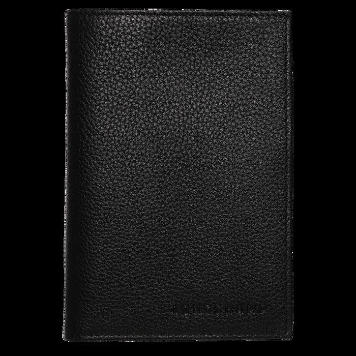 Étui passeport, Noir - Vue 1 de 2 - agrandir le zoom