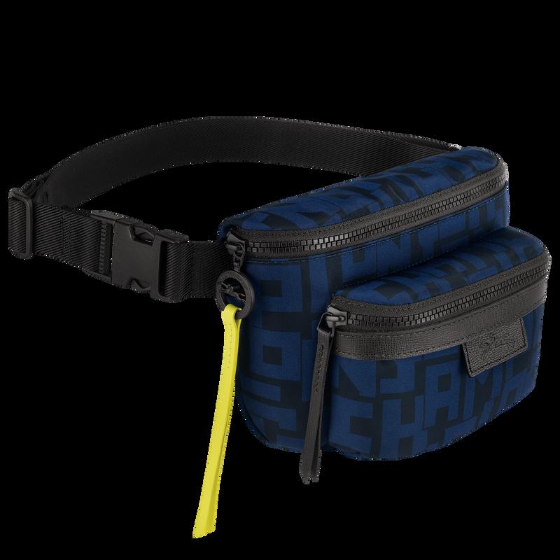 Le Pliage LGP Belt bag M, Black/Navy