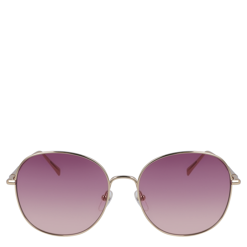 View 1 of Sunglasses, Gold/Wine, hi-res