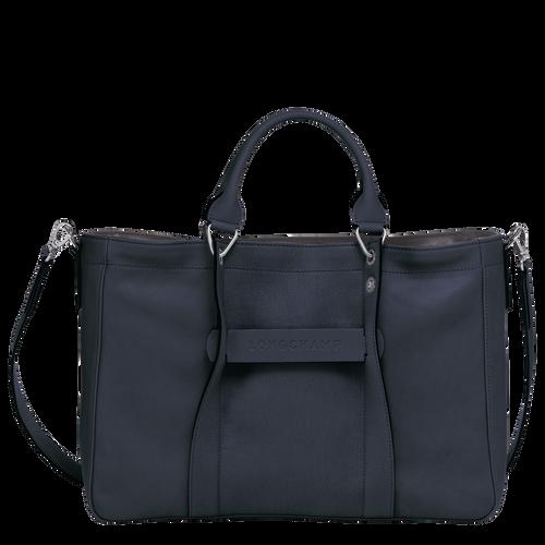 Top handle bag M, Midnight blue, hi-res - View 1 of 3