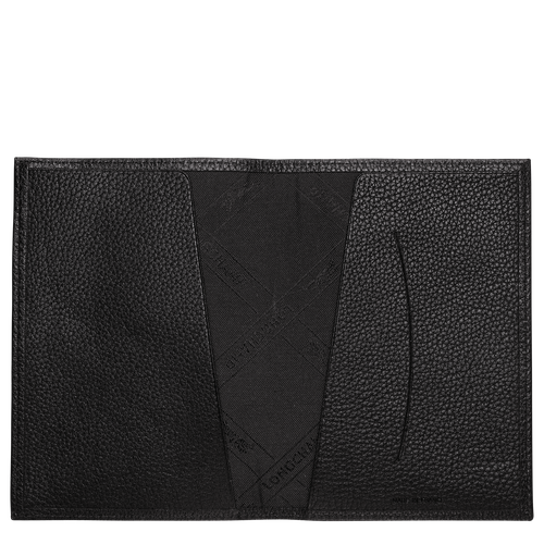 Le Foulonné Passport cover, Black