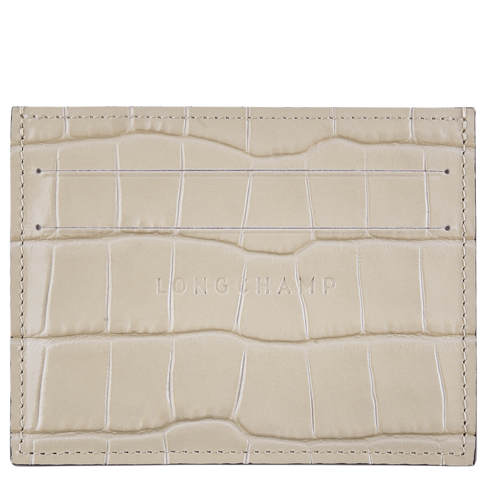 Le Pliage Cuir Card holder, Chalk
