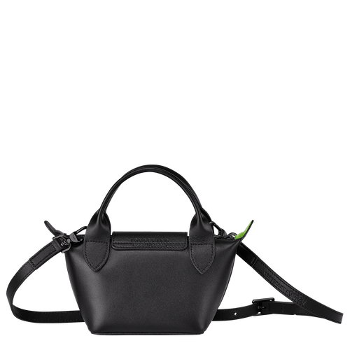 Tas met handgreep aan de bovenkant, Zwart/Ebbenhout - Weergave 3 van  3 -