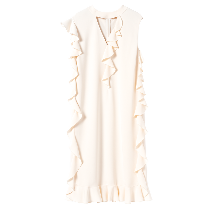 Fall-Winter 2021 Collection Midi dress, Ivory