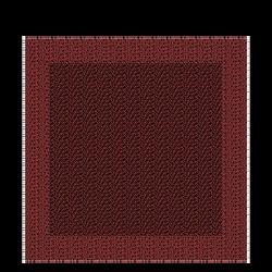 Silk scarf, C09 Black/Brick, hi-res
