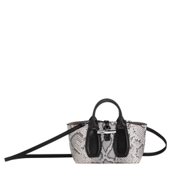 Top handle bag S, Black/White, hi-res