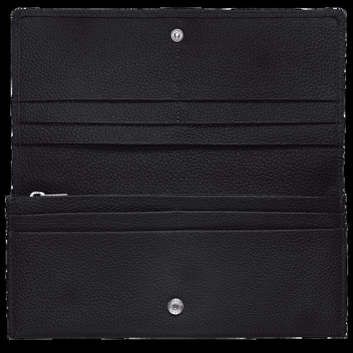 Lange Geldbörse mit Überschlag, Schwarz, hi-res - View 2 of 3