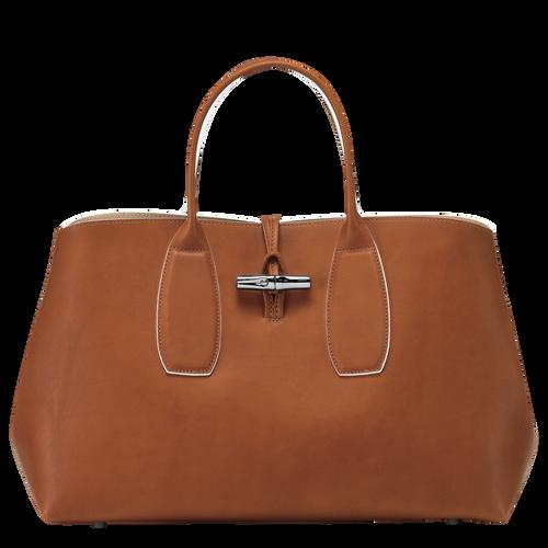 Tas met handgreep aan de bovenkant L, Cognac - Weergave 1 van  5 -