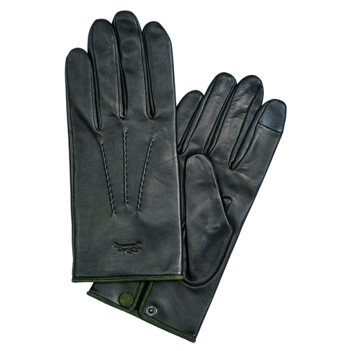 Men's gloves, Black/Ebony - View 1 of  1 -