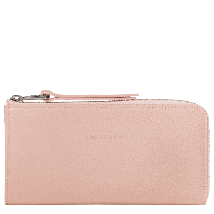 Le Foulonné Lange Brieftasche mit Rundum-Reißverschluss, Puder