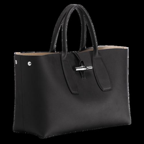 View 3 of Top handle bag L, Black, hi-res
