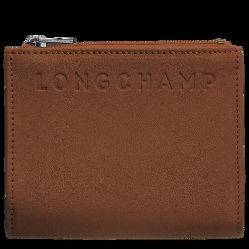 Portefeuille compact, Cognac - Vue 1 de 2 -