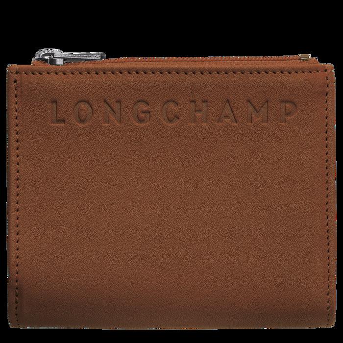 Portefeuille compact, Cognac - Vue 1 de 2 - agrandir le zoom
