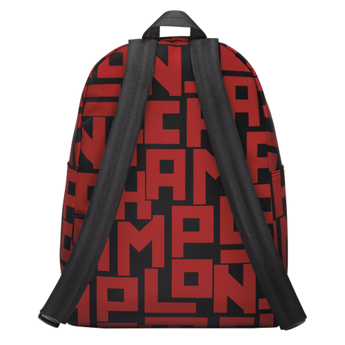 View 3 of Backpack M, C09 Black/Brick, hi-res