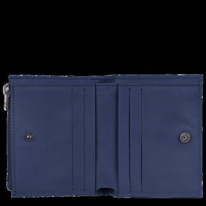 Croco Block Compact wallet, Navy