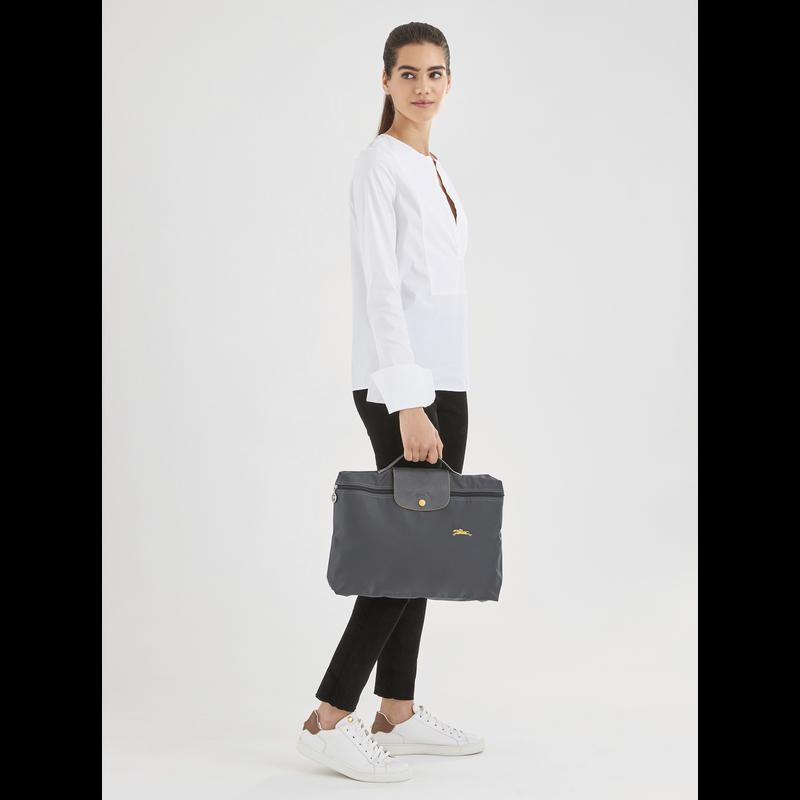 Le Pliage Club Briefcase S, Gun metal