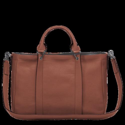 Top handle bag M, Cognac - View 3 of  3 -