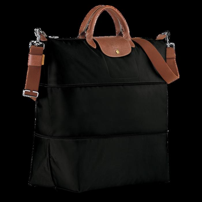 Le Pliage Travel bag expandable, Black