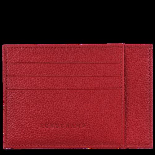 Porte-cartes Le Foulonné Rouge (L3121021545) | Longchamp BE