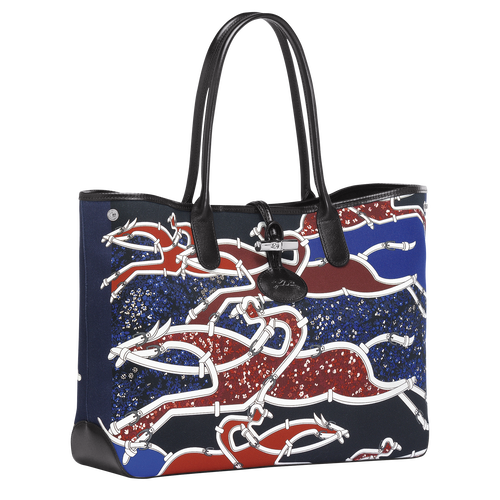 Vue 2 de Sac shopping, B51 Bleu/Rouge, hi-res