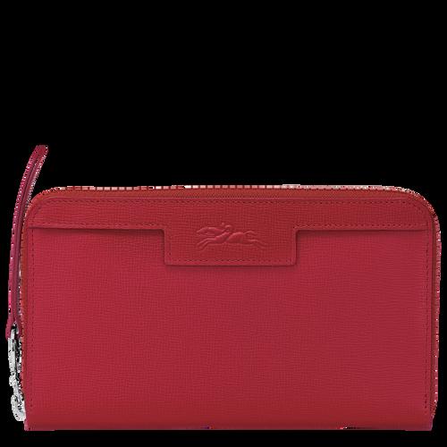長型拉鏈錢包, 紅色, hi-res - 1 的視圖 2