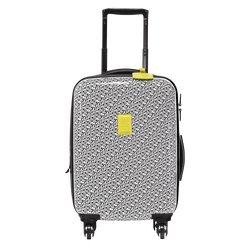 Small wheeled suitcase, 067 Black/White, hi-res