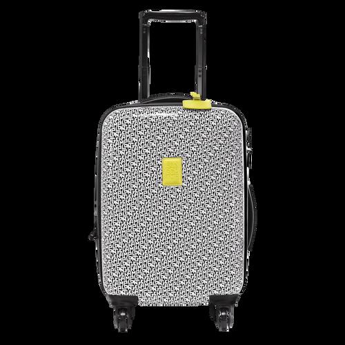 Kleine Koffer mit Rollen, 067 Schwarz/Weiss, hi-res