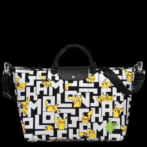 Sac de voyage L Longchamp x Pokémon Noir/Blanc (L1624HUT067) | Longchamp CA