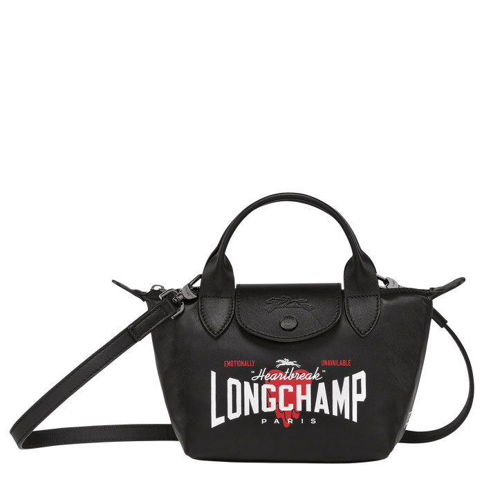 Longchamp x EU 手提包 XS, 黑色