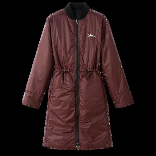 Spring-Summer 2021 Collection Reversible coat, Black/Mahogany