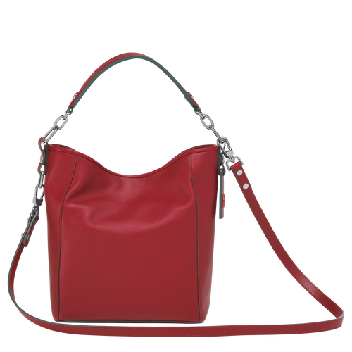 View 3 of Small bucket bag, Garnet Red, hi-res