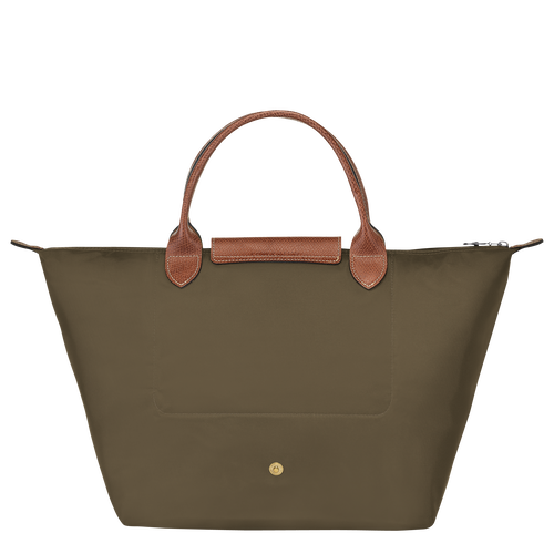 Top handle bag M, Khaki, hi-res - View 3 of 4