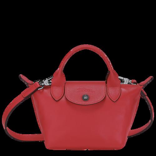 Top handle bag XS Le Pliage Cuir Red (L1500757545) | Longchamp US