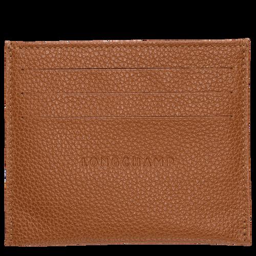 Card holder Le Foulonné Caramel (L3219021F72) | Longchamp US