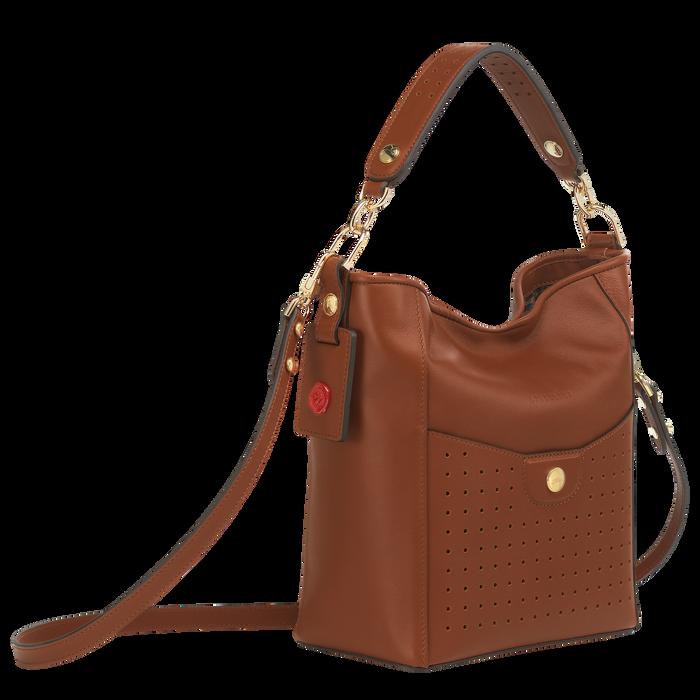 Mademoiselle Longchamp Bolso de hombro S, Coñac