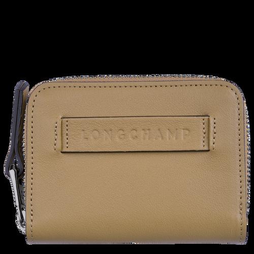 Longchamp 3D Zipped card holder, Cumin
