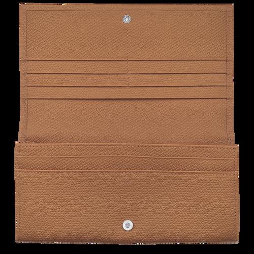 Roseau Long continental wallet, Natural