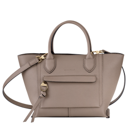 Top handle bag M, Taupe