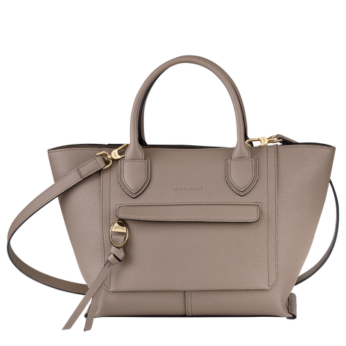 Top handle bag M, Taupe - View 1 of  4 -
