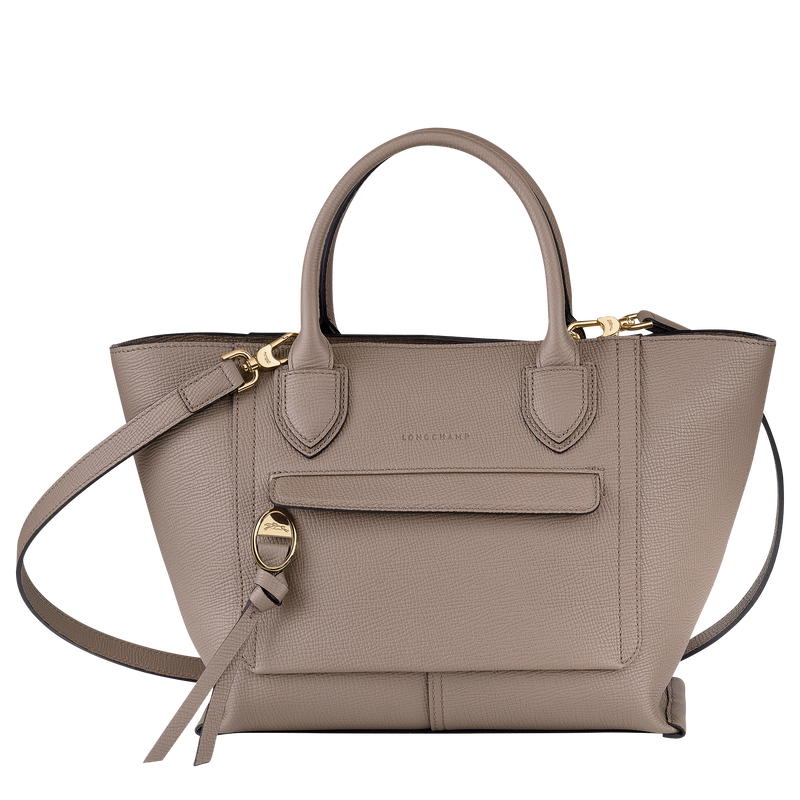 Top handle bag M, Taupe - View 1 of  4 - zoom in