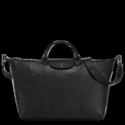 Travel bag L Le Pliage Cuir Black (L1624757001)   Longchamp US