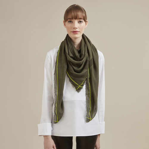 Fall-Winter 2021 Collection Ladies' stole, Forest