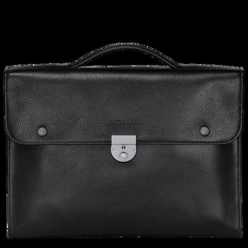 Porte-documents M Le Foulonné Noir (L2156021047) | Longchamp FR