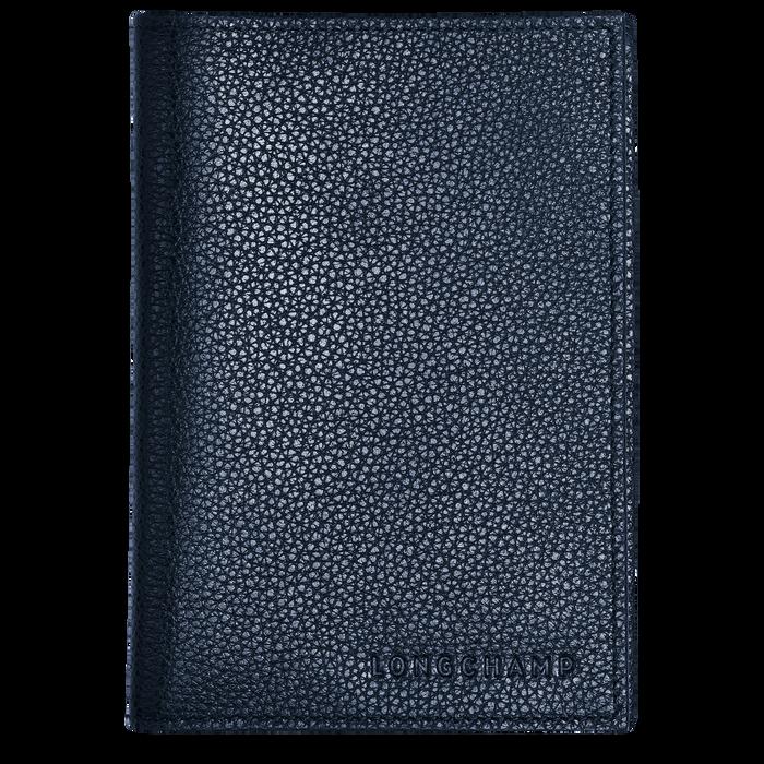 Le Foulonné Passport cover, Navy