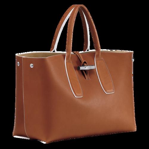 Top handle bag L, Cognac, hi-res - View 3 of 5