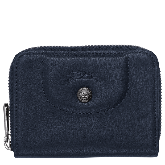 Zipped card holder, Navy, hi-res - View 1 of 2