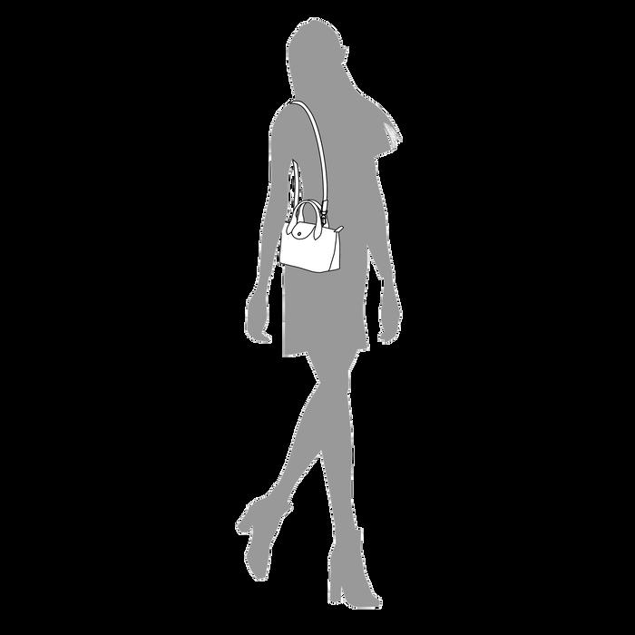 Tas met handgreep aan de bovenkant XS, Honing - Weergave 4 van  6 - Meer inzoomen.