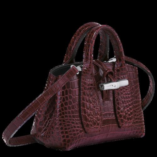 Top handle bag XS, Burgundy - View 3 of 4 -