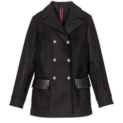 Pea coat, 001 Black, hi-res