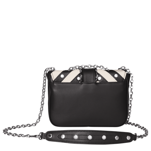 View 3 of Hobo bag XS, 067 Black/White, hi-res